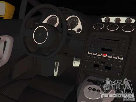 Lamborghini Gallardo для GTA Vice City вид сзади