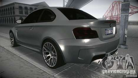 BMW 1M E82 Coupe 2011 V1.0 для GTA San Andreas вид сзади слева