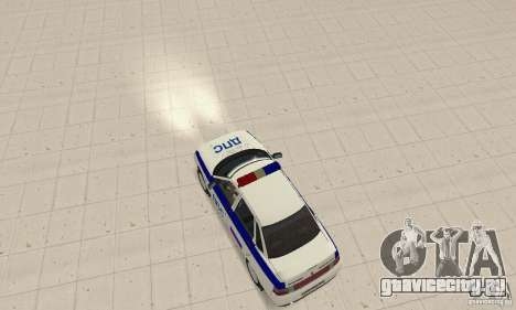 ВАЗ 2110 ДПС для GTA San Andreas вид сзади слева