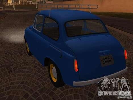 ЗАЗ 965М для GTA San Andreas вид изнутри