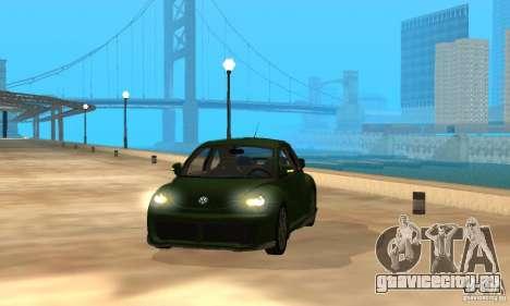 Volkswagen Bettle Tuning для GTA San Andreas вид изнутри