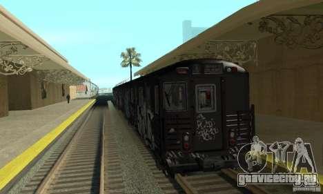 GTA IV Enterable Train для GTA San Andreas вид слева