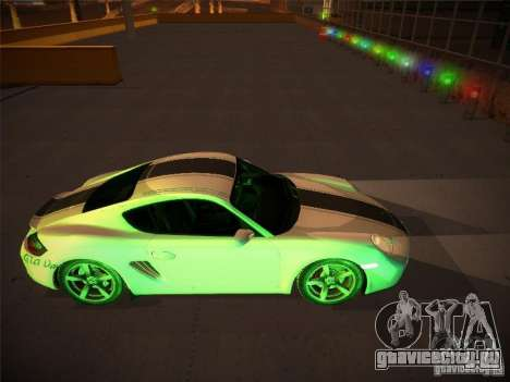 Porsche Cayman S Snow для GTA San Andreas вид изнутри