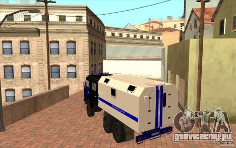 КамАЗ Милиция для GTA San Andreas вид справа