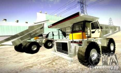 Caterpillar 777D для GTA San Andreas вид сзади слева