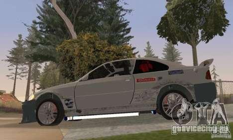 BMW M3 Hamman Street Race для GTA San Andreas вид сзади слева