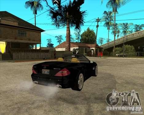 Mercedes Benz AMG SL65 V12 Biturbo для GTA San Andreas вид сзади слева