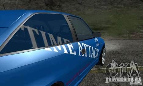 Opel Astra Time Attack для GTA San Andreas вид изнутри