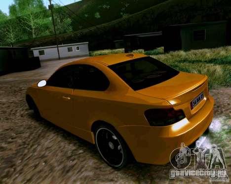 BMW 135 Tuning для GTA San Andreas вид сзади слева