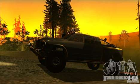 Dodge Ram All Terrain Carryer для GTA San Andreas вид сзади слева