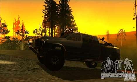 Dodge Ram All Terrain Carryer для GTA San Andreas вид сзади слева