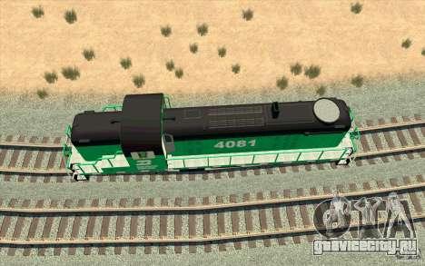 BURINGTON NORTHERN RS3 для GTA San Andreas вид изнутри