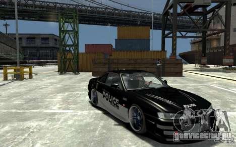 Nissan 200SX Police v0.2 для GTA 4 вид сзади
