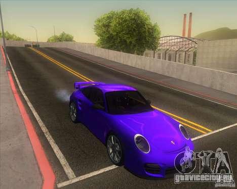 Porsche 911 GT2 (997) для GTA San Andreas вид изнутри