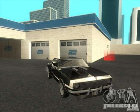 Chevrolet Camaro RSSS 396 1968 (fixed) для GTA San Andreas вид сзади слева