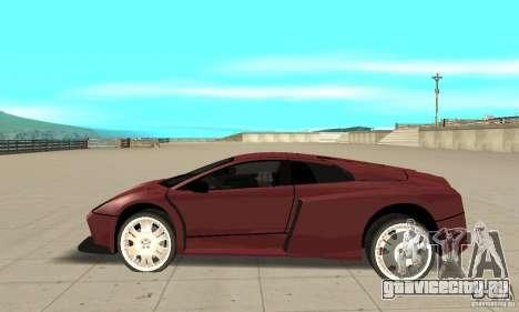 Lamborghini Murcielago Tuned для GTA San Andreas вид слева