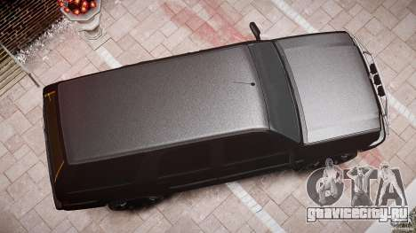 Cavalcade FBI car для GTA 4 вид сверху