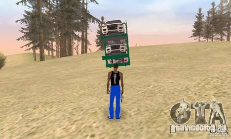 Car Transporter для GTA San Andreas вид слева