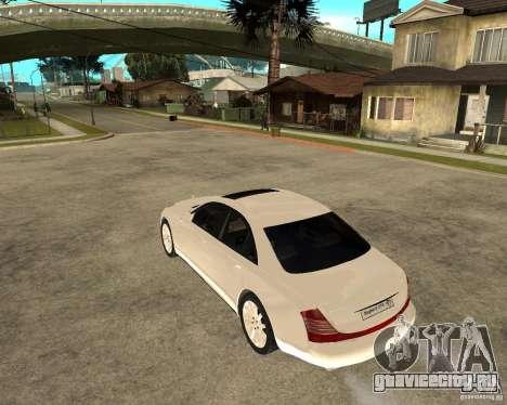 Maybach 57 S для GTA San Andreas вид слева