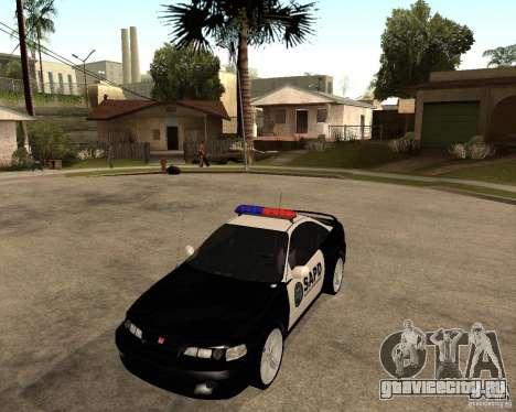 Honda Integra 1996 SA POLICE для GTA San Andreas вид слева