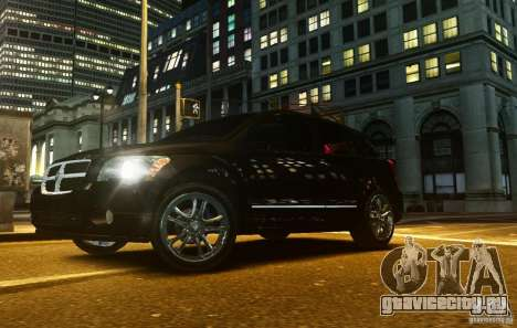 Dodge Caliber для GTA 4 вид изнутри
