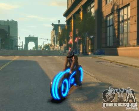 Мотоцикл из Трон (синий неон) для GTA 4 вид сзади слева
