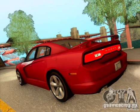 Dodge Charger SRT8 2012 для GTA San Andreas вид снизу