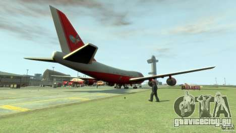Fly Kingfisher Airplanes with logo для GTA 4 вид сзади слева