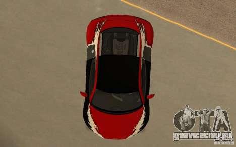 Audi R8 Le Mans Quattro для GTA San Andreas салон