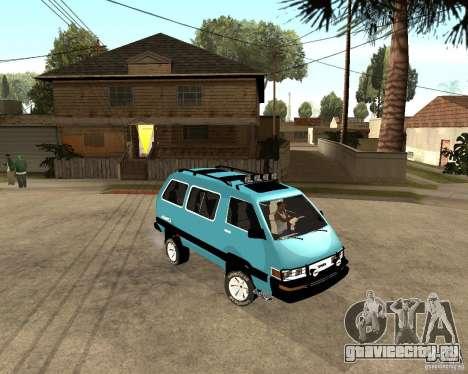 Toyota Town Ace для GTA San Andreas вид слева