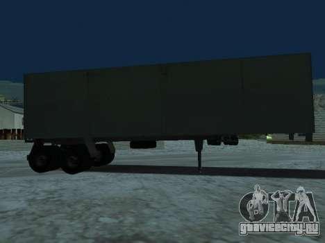 Прицеп для КамАЗа 5410 для GTA San Andreas вид сзади слева