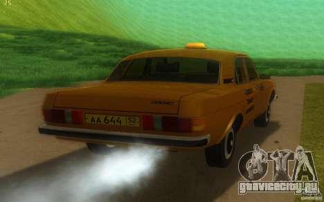 ГАЗ Волга 3102 Такси для GTA San Andreas вид справа