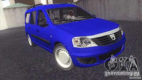 Dacia Logan MCV Facelift для GTA San Andreas