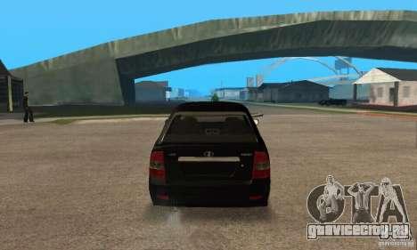 Лада Приора 2172 хэтчбек для GTA San Andreas вид справа