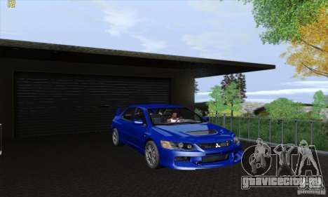 Mitsubishi Lancer Evolution 9 MR Edition для GTA San Andreas вид сзади