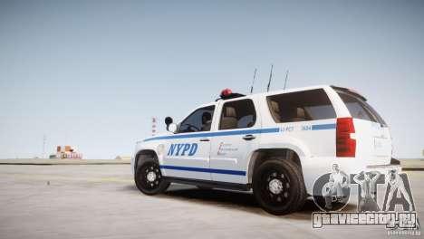 Chevrolet Tahoe 2012 NYPD для GTA 4 вид слева