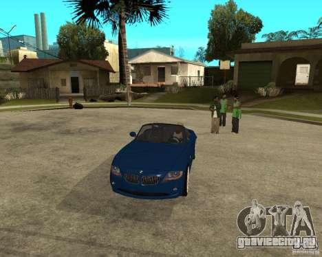BMW Z4 для GTA San Andreas вид изнутри