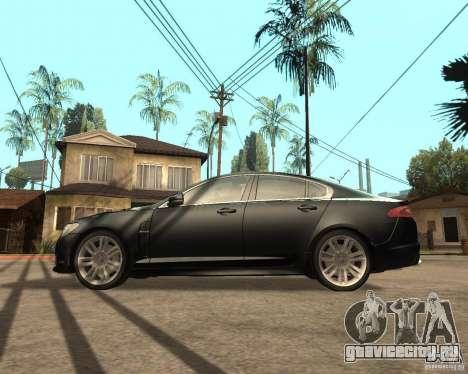 Jaguar XFR 2009 для GTA San Andreas вид слева