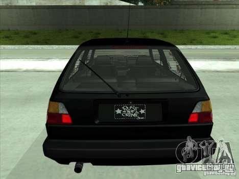 Volkswagen Golf 2 Rat Style для GTA San Andreas вид сзади
