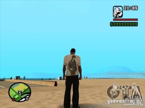 Футболка КИНО для GTA San Andreas