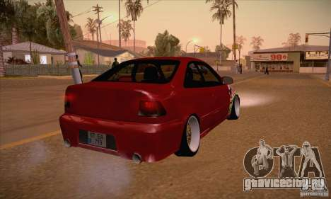 Honda Civic Tuning 2012 для GTA San Andreas вид справа