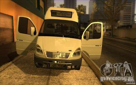ГАЗель СПВ-16 Рута для GTA San Andreas вид сзади
