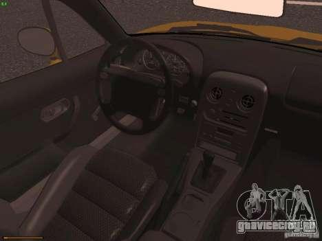 Mazda MX-5 1997 для GTA San Andreas вид изнутри