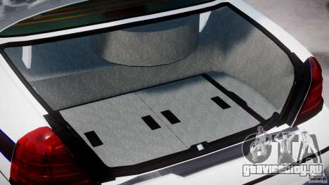 Ford Crown Victoria 2003 FBI Police V2.0 [ELS] для GTA 4 вид сверху