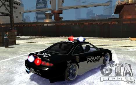 Nissan 200SX Police v0.2 для GTA 4 вид справа