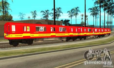 Liberty City Train Red Metro для GTA San Andreas вид слева