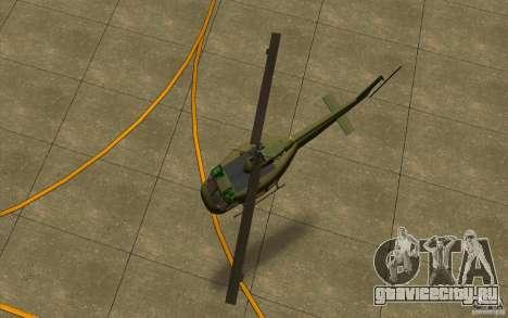UH-1D Slick для GTA San Andreas вид сзади