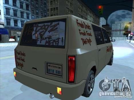 Hot Dog Moonbeam для GTA San Andreas вид справа