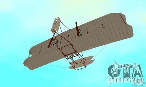 The Wright Flyer для GTA San Andreas вид сбоку