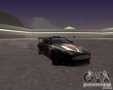 Aston Martin DB9 tunable для GTA San Andreas вид сверху